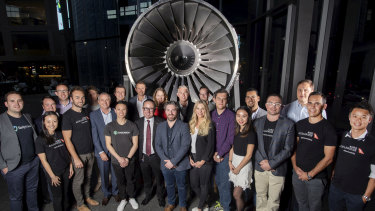 Qantas CEO Alan Joyce with last year's Avro Accelerator participants before the progam was axed.