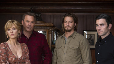 The Dutton family; Beth (Kelly Reilly), John (Kevin Costner), Kayce (Luke Grimes) and Jamie (Wes Bentley).