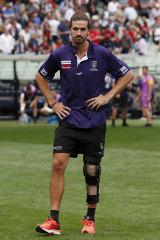 Alex Pearce injured his knee.