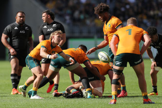 Tate McDermott was one of the few bright spots for the Wallabies.