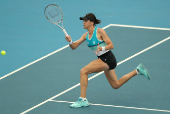 Ajla Tomlanjovic in action in Adelaide.