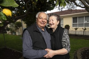 Manoli and Anna Vourvahakis in their Yarraville home of 40 years.