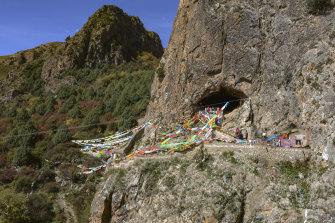 The Baishiya Karst Cave where the Denisovan DNA was found.