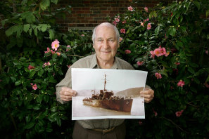 Dr Ray Leonard survivor of the sinking of HMAS Armidale in WWII by Japanese Torpedo Bombers.
