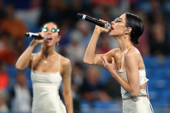 The Veronicas are among acts who will perform at the Australian Open.