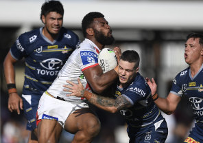 Winger Mikaele Ravalawa was one of the Dragons' best on Saturday.