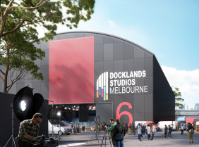 An artist's impression of the new soundstage to be built at Docklands Studios Melbourne