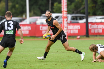 Brodie Grundy may not get the opportunity during games to work through his issues in the ruck.