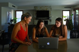 Tennille Southcombe learnt a lot at home in Ryde with her daughters Georgia and Mackenzee.