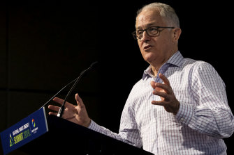 Malcolm Turnbullspeaks at the National Smart Energy Summit.