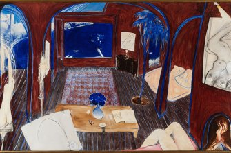 Henri's Armchair, by Brett Whiteley, painted in 1974 and 1975, to be auctioned by Menzies in Sydney on November 26 with an estimate of $5 million to $7 million.