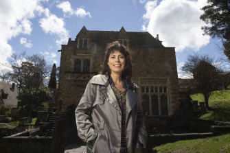Reimagining bohemia: Dr Jacqueline Ogeil and Montsalvat's Great Hall.