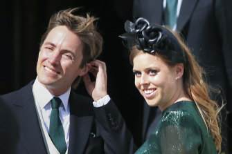 Princess Beatrice and her then-fiance Edoardo Mapelli Mozzi, pictured in 2019.