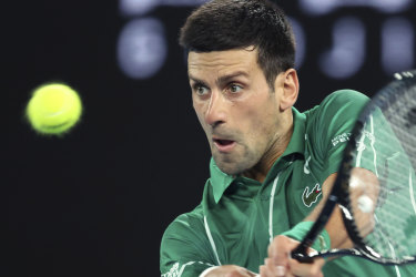 He hadn't served a double fault in nearly three sets. Then, three in one game