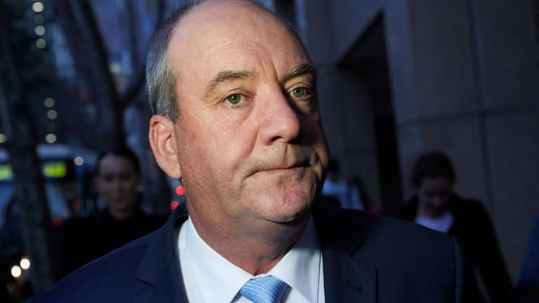 NSW MP Daryl Maguire leaves the  ICAC on Friday.