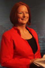 The wax figure of Julia Gillard was unveiled in 2012.