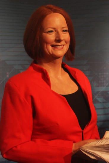 The wax figure of Julia Gillard was unveiled in 2012.