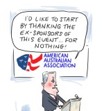 Malcolm Turnbull was the keynote speaker at an American Australian Association event to commemorate ANZAC day last week.