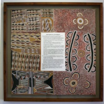 The Barunga Statement, presented to prime minister Bob Hawke in 1988.