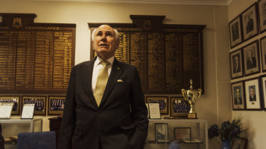 Former prime minister John Howard visits his old high school, Canterbury Boys'.