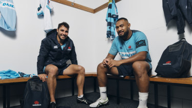 Halfback Nick Phipps and prop Sekope Kepu have played 224 matches between them for the Waratahs.
