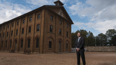 Blue sky above Mark Goggin, executive director of Sydney Living Museums, and it will stay that way as part of a scheme that trades off these unused air rights to developers in other parts of Sydney.