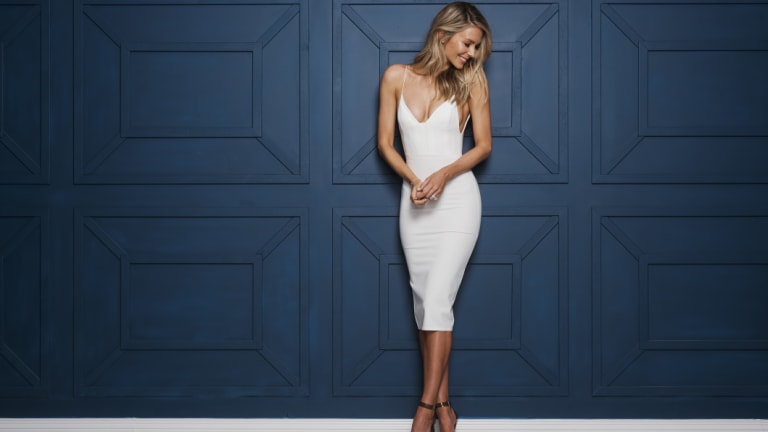 Looking back ... Jennifer Hawkins ahead of her final series of runway  events for Myer, which she is departing after 12 years.