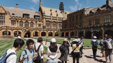 Foreign students are still flocking to Australia's universities.