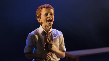 Jamie Rogers at the Billy Elliot cast announcement.