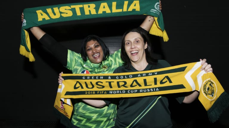 Socceroos fans Michelle Prasad and Carla D'Alessandro are on their way to Russia.
