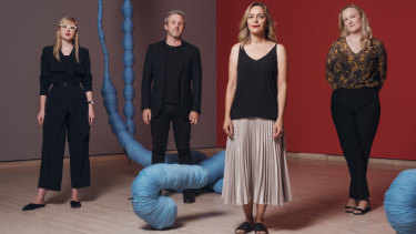 Art Gallery of NSW curator Isobel Parker Philip, Carriageworks director Daniel Mudie Cunningham, Museum of Contemporary art curator Clothilde Bullen and Museum of Contemporary art curator Anna Davis.