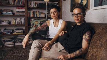 Keren Moran (left), 41, and Noa Peer, 47.