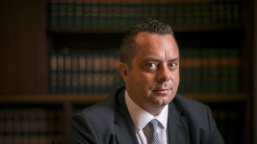 Lawyer Luke McMahon of  Doogue + George Defence Lawyers.