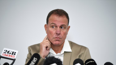 Stajcic held a press conference in February after his sacking from the Matildas job.