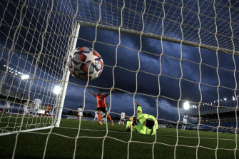 Real Madrid gloveman Thibaut Courtois fails to stop an own goal from teammate Raphael Varane during the Spaniards' shock Champions League loss to Shakhtar Donetsk.