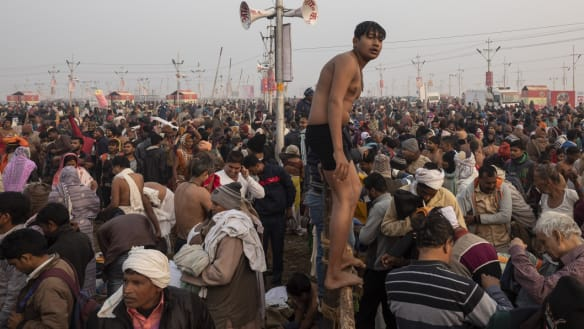 Kumbh Mela begins under veil of dust, despite Modi's sanitation push