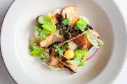 Mauro Colagreco dish The Forest. Mirazur in France ranked No. 1 on the World's 50 Best Restaurants list 2019.