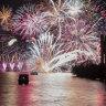 Firework barge explodes on the lake at Skyfire