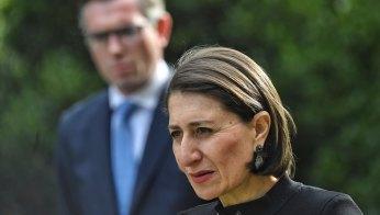 NSW Premier Gladys Berejiklian and Treasurer Dominic Perrottet address the media.