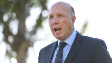 Home Affairs Minister Peter Dutton has taken aim at China.