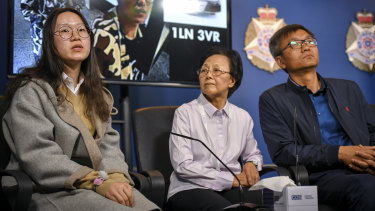 The Chu family plea for information about  Yiwei Chu on Thursday.