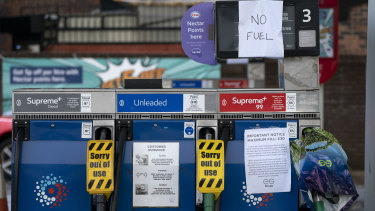 The UK is going through a fuel crisis.