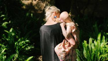 Stephanie Dunstan with her daughter Saskia.