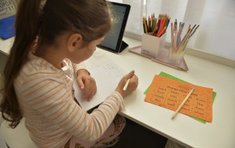 Children across Sydney are having to learn from home again.
