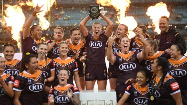 Brisbane celebrated another NRLW title in 2020.
