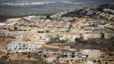 A a general view of housing in the Israeli settlement of Revava, near the West Bank city of Nablus.