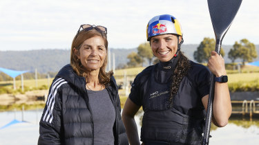 Jess Fox and her mother Myriam will join forces in Tokyo.