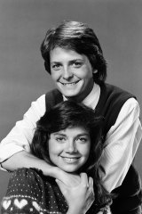 As Mallory Keaton in the hit TV series Family Ties, with actor Michael J. Fox who played her brother Alex. The show made Justine a household name.