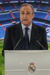Real Madrid president Florentino Perez says the Super League is not dead yet.