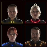ABBA band members rendered as de-aged computer images for their virtual concert experience ABBA Voyage.